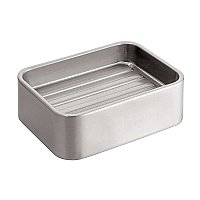Gia Modern Soap Dish - Brushed Stainless Steel