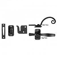 Black Iron Gate Latch Lever or Casement Latch