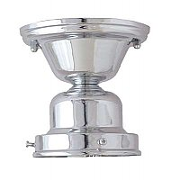 "Flush Mount Fixture, 4"" Fitter, Polished Chrome"