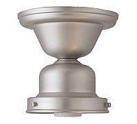 "Flush Mount Fixture, 4"" Fitter, Satin Nickel"