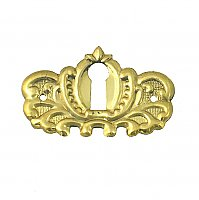 Victorian Keyhole Cover - Polished Unlacquered Brass