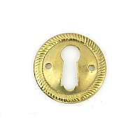 Polished Brass Keyhole Escutcheon