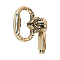 Polished Brass Mock Cabinet Key