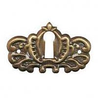 Victorian Keyhole Cover - Antique Brass
