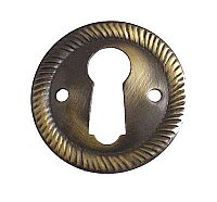 Antique Brass Keyhole Escutcheon