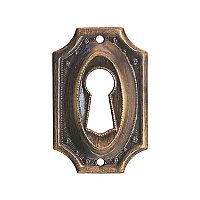 Keyhole Cover - Antique Brass
