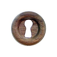 "Keyhole Cover - Walnut - 1"" diameter"