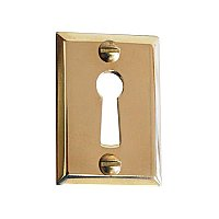Solid Brass Door Keyhole Cover - Polished Lacquered Brass