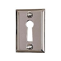 Solid Brass Door Keyhole Cover - Polished Nickel