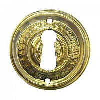 Brass Round Keyhole Cover