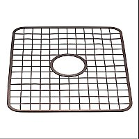 Gia Kitchen Sink Protector Grid - Wire Grid Mat with Center Drain Hole - Bronze