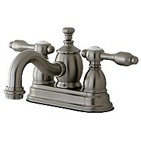 Kingston Brass  4-Inch Centerset Lavatory Faucet Metal Levers - Brushed Nickel