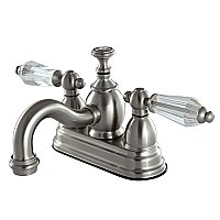 Kingston Brass  4-Inch Centerset Lavatory Faucet Acrylic Levers - Brushed Nickel