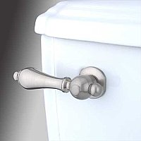 Restoration Toilet Flush Lever - Satin Nickel