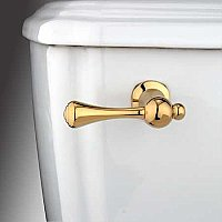 Buckingham Toilet Flush Lever Handle - Polished Brass