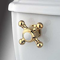 Buckingham Toilet Flush Cross Handle - Polished Brass