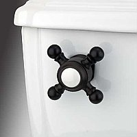 Buckingham Toilet Flush Cross Handle - Oil Rubbed Bronze