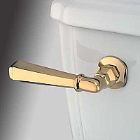 Metropolitan Toilet Flush Lever - Polished Brass