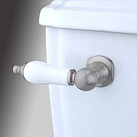 Porcelain Toilet Flush Lever - Satin Nickel