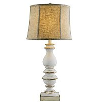 Bishop Table Lamp White - With Shade