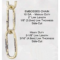 Embossed Lamp Chain, Steel