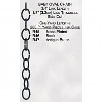 Baby Oval Lamp Chain, Steel