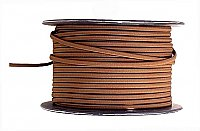 Lamp Cord, Brown 18/2 Rayon Covered Lamp Cord, Per Foot
