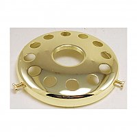 "Polished Brass Plated UNO Shade Holder 4"" Fitter"