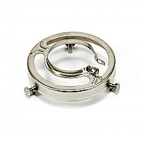 "Polished Nickel Clamp-On Shade Holder 2-1/4"" Fitter"