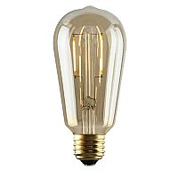 LED Amber Glass Edison Bulb, 2 Watt
