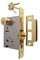 Exterior Mortise Door Lock - For Knob-Knob Use