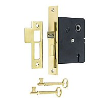 Interior Mortise Lock Kit - Polished Brass