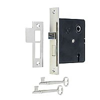 Interior Mortise Lock Kit - Polished Nickel