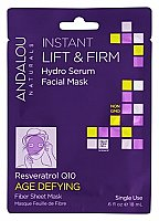 Andalou Naturals Instant Lift & Firm Facial Hydro Serum Face Mask