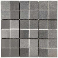 "Alloy Quad 11-7/8"" x 11-7/8"" Stainless Steel & Porcelain Mosiac Tile - Stainless Steel - Per Sheet- .98 Square Feet"
