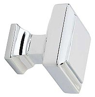 "Geometric Square Cabinet Knob - 1-5/8"" - Polished Chrome"