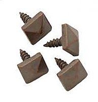 Pyramid Screws, Antique Copper Finish