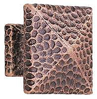 "Hammered 1"" Square Knob - Oil Rubbed Bronze"