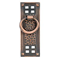 Hammered Vertical Ring Pull - Oil Rubbed Bronze