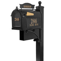 Ultimate Mailbox Package - Includes Name and Address Plaques, Post, and Newspaper Box - Multiple Colors Available