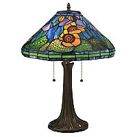 Tiffany Poppy Cone Table Lamp, 23""