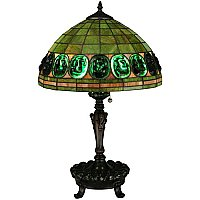 Tiffany Turtleback Green Table Lamp, 24""