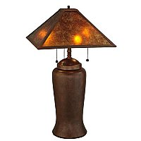 Simple Mission Table Lamp with Mica Shade, 26""