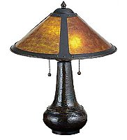 Van Erp Amber Mica Table Lamp, 21""