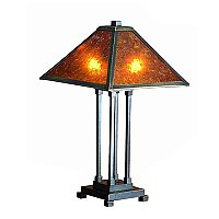 Van Erp Amber Mica Table Lamp, 24""