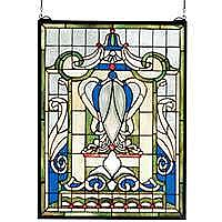 Royal Blue Windsor Stained Glass Panel