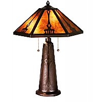 "Grenway Amber Mica Table Lamp - 24"" High"