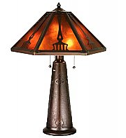 Grenway Amber Mica Table Lamp