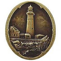 Guiding Lighthouse, Antique Brass
