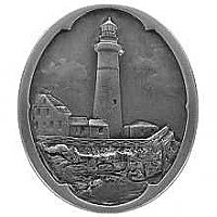 Guiding Lighthouse, Antique Pewter